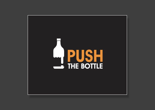 push the bottle logo